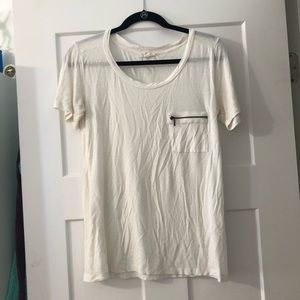Plain white pocket T-shirt